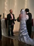 Officiating my daughter Jordyn's wedding