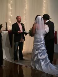 Officiating my daughter Jordyn's wedding